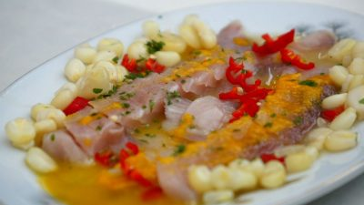 Tiradito de pescado