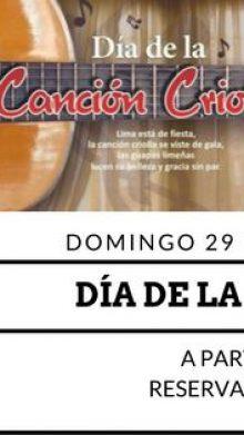 Día de la canción criolla en Cuchara Brava Restaurante Peruano